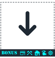 down arrow icon flat
