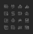 electrician service chalk white icons set on dark vector image vector image