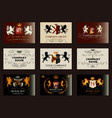 elegant vintage designs set for luxury logos vector image vector image