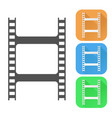film clip colored icons vector image