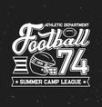 football summer camp league retro poster vector image vector image