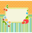 Frame with flowers and fruits vector image vector image