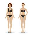 girls in black underwear vector image vector image