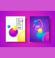 gradient modern poster vector image vector image