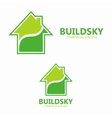 green eco house logo design template vector image vector image