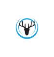 head deer animals logo black silhouete icons vector image vector image
