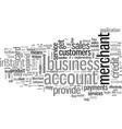 instant merchant account benefits vector image vector image
