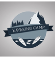 Kayaking camp logo Expedition label and sticker