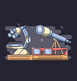 laboratory equipment science chemistry education vector image vector image