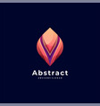 logo abstract gradient colorful style vector image
