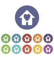 Love house flat icon vector image vector image