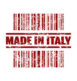 made in italy icon vector image vector image