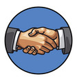 men handshake vector image