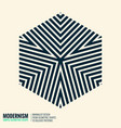 minimalistic geometric design vector image vector image