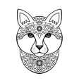 Ornamental White Cat vector image vector image