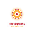 photography sun business logo vector image vector image