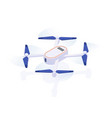 realistic air drone quadrocopter vector image