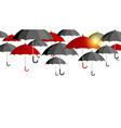 red and black umbrella background for rainy season vector image