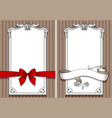 retro design templates with drawing of red bow vector image vector image