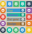 Route 88 highway icon sign Set of twenty colored vector image