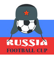 russia football cup colorful vector image vector image