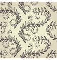 Seamless beige elegant floral background vector image vector image