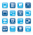 server and network icons vector image vector image