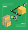 shipment logistics isometric banner vector image vector image