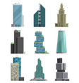 skyscraper high building tower city architecture vector image vector image