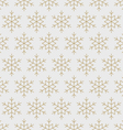 Snowflakes pattern seamless line art gold vector image vector image