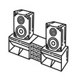 sound system icon doodle hand drawn or outline vector image