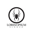 spider logo and symbols template icons app vector image vector image