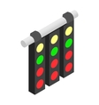 Sport traffic light isometric 3d icon vector image