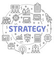 strategy linear slide for the vector image vector image
