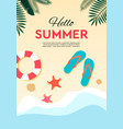 summer holidays and tropical vacation poster or vector image