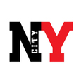T shirt New York city vector image vector image