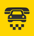 taxi cab sign vector image vector image