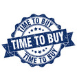 time to buy stamp sign seal vector image vector image
