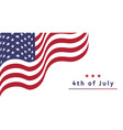 usa independence day card with waving flag vector image