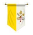 vatican city pennant vector image vector image