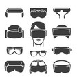 virtual reality icons vector image vector image