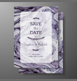 wedding template with liquid marble texture for vector image vector image