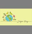 world vegan day vector image vector image
