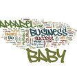 your big success in baby apparel business text vector image vector image