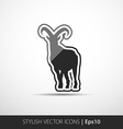 image of an goat on white background vector image