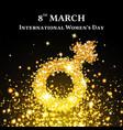 elegant international womens day background vector image