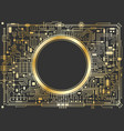 gold chipset digital background vector image