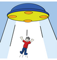 alien abduction vector image