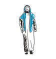 arabian man in national dress hand drawn icon vector image