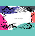 artistic creative cards with brush strokes vector image vector image